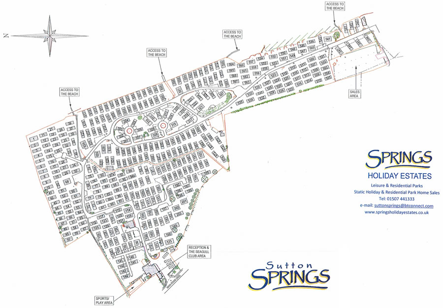 Sutton Springs Map