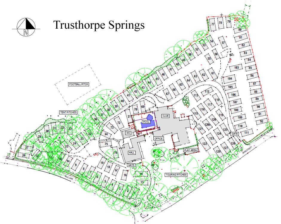 Trusthorpe Springs Site Plan